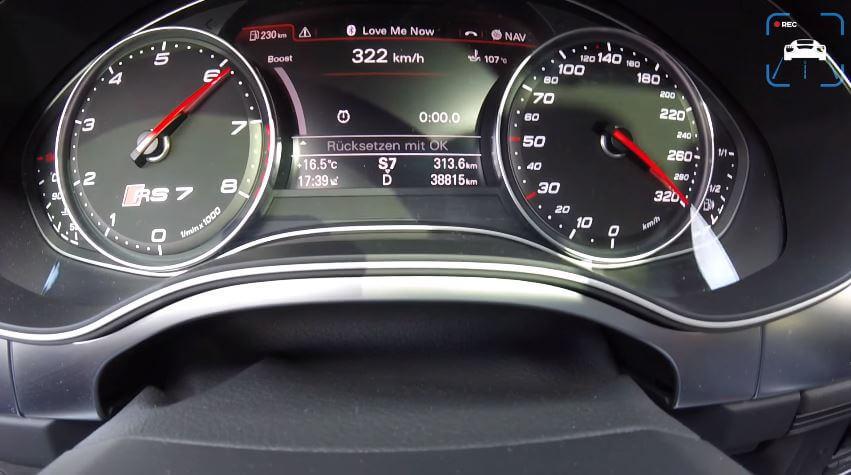 Audi RS7 0-325 kmh