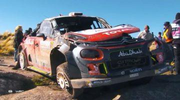 Kris Meeke ging 14x over de kop net nadat zijn rallyauto was herbouwd
