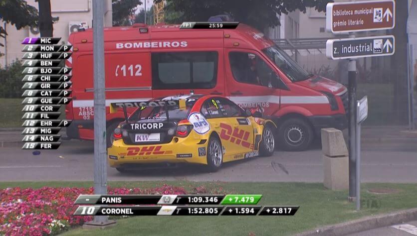Coronel ramt brandweerauto