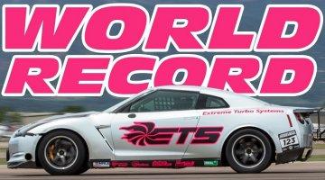 ETS Nissan GT-R halve mijl wereldrecord