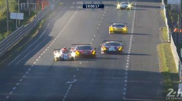 Ferrari 488 GTE de vangrail ingeduwd door LMP2