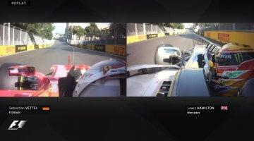 Hamilton vs Vettel Azerbaijan 2017