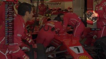 Kimi Raikkonen los over de boordradio