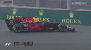 Max Verstappen crasht in Baku