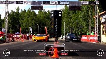 Porsche 991 Turbo S vs Lamborghini Aventador LP700