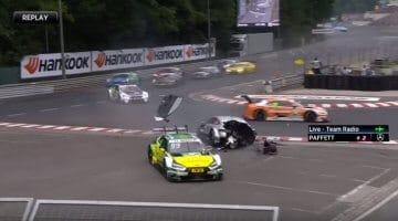Gary Paffet Crash DTM
