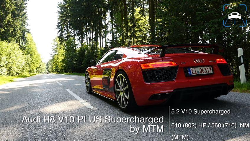 Supercharged Audi R8 V10 Plus 0-324 kmh