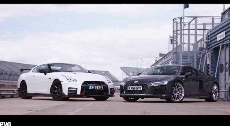 Audi R8 vs Nismo GT-R