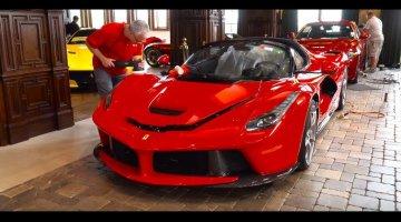 Deze prachtige garage is exact wat de LaFerrari Aperta verdiend