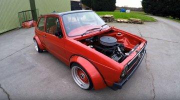 Golf Mk1 met V8-motor