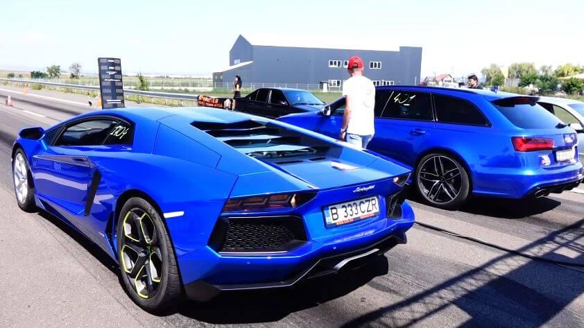 Lamborghini Aventador vs Audi RS6