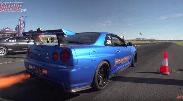 Nissan R34 GT-R heeft geen tractie