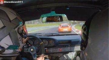 Porsche-993-Carrera-4-duwt-een-991-GT3-RS-op-rond-de-Nordschleife