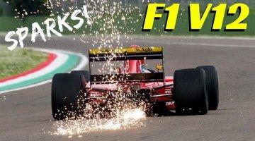 Prost's 1991 Ferrari 643 V12 janken over Imola