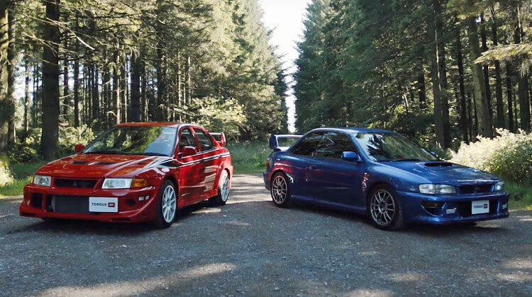 video 90 39 s rally icons subaru impreza 22b vs mitsubishi. Black Bedroom Furniture Sets. Home Design Ideas