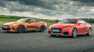 Audi TT RS vs Nissan GT-R