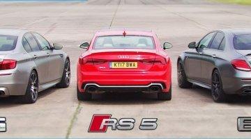 Mercedes-AMG E63 S vs BMW M5 vs Audi RS5 Dragrace