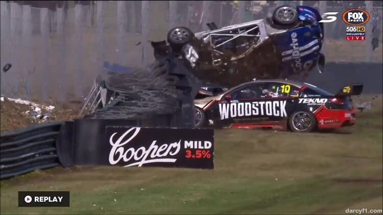 Todd Hazelwood Crash Sandown