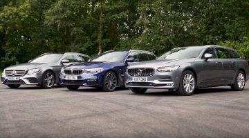 Volvo V90 vs BMW 5-Serie Touring vs Mercedes E-Klasse Estate