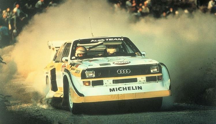 Walter Röhrl in de Audi Sport Quattro S1