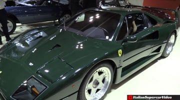 Ferrari F40 is gespoten in 'British Racing Green'