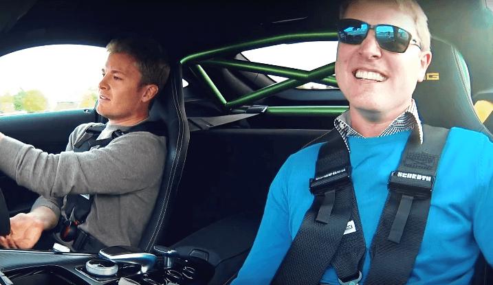 Nico Rosberg voor het eerst in een AMG GT R