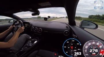 ABT Audi TT RS topsnelheid