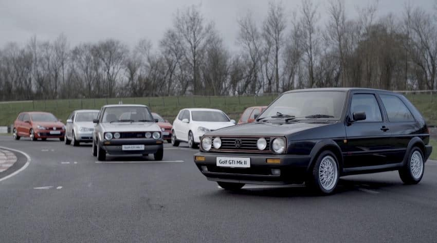 Alle generaties Golf GTI