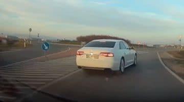 Audi-bestuurder met haast