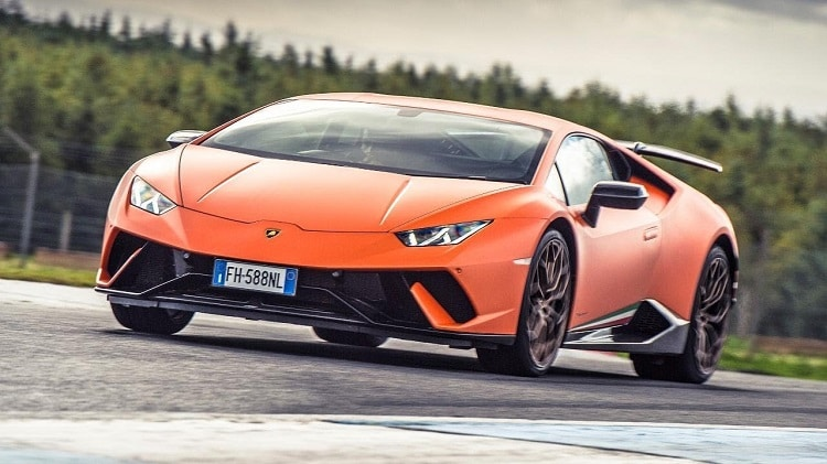 Chris Harris test Huracan Performante