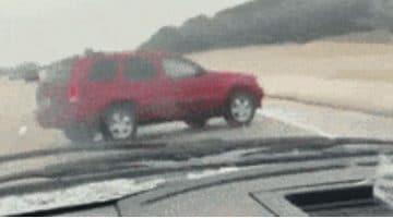 Jeep spint door ijzel