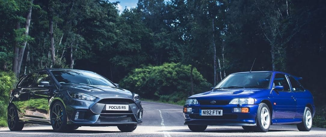 Ford Focus RS vs Ford Escort RS Cosworth