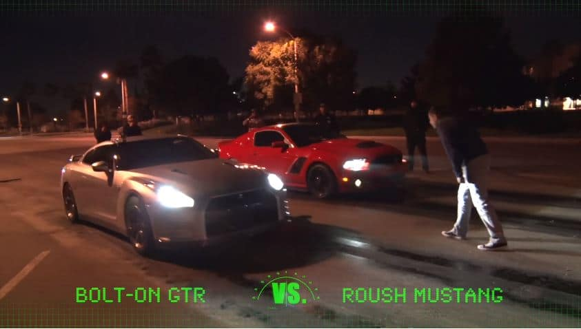 Mustang vs GT-R Straatrace