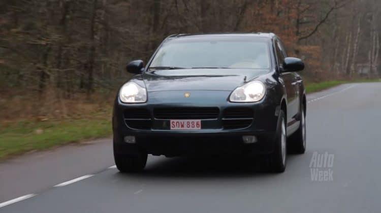Porsche Cayenne met 4 ton op de teller