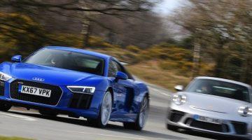 Audi R8 RWS vs Porsche 911 GT3
