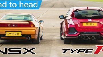 2017 Honda Civic Type R vs 2005 Honda NSX