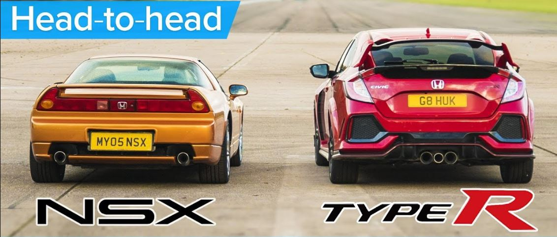 2017 Honda Civic Type R vs 2005 Honda NSX