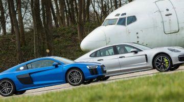 Audi R8 V10 vs Porsche Panamera Turbo S E-Hybrid