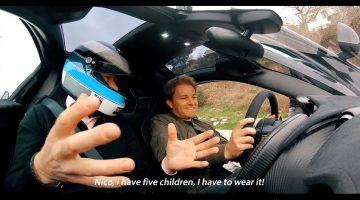 Nico Rosberg in Mika Hakkinen's McLaren P1