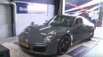 Porsche 911 Carrera S op de rollenbank