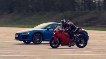 Ducati Panigale V4 vsAudi R8 V10