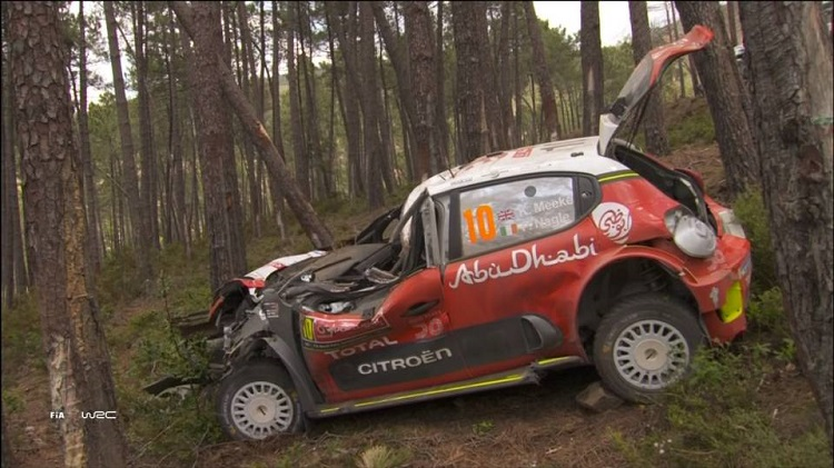 Kris Meeke Crashes