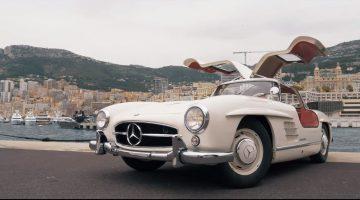 Nico Rosberg toert door Monaco in zijn 1955 Mercedes 300SL