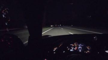 Porsche 991.2 GT3 RS naar 300 kmh op nachtelijke Autobahn