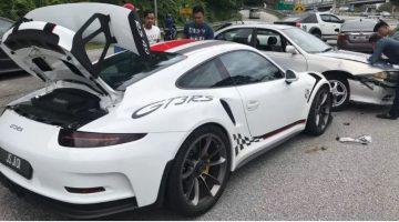 Proton crasht tegen Porsche 911 GT3 RS