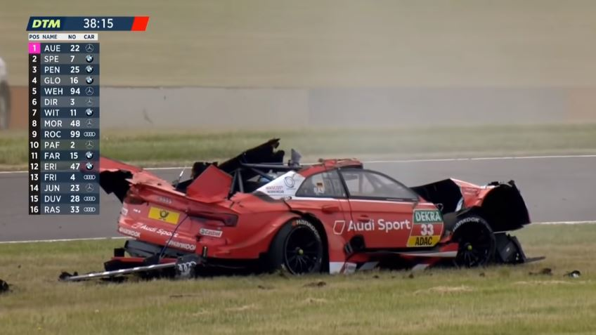 Rene Rast DTM Crash