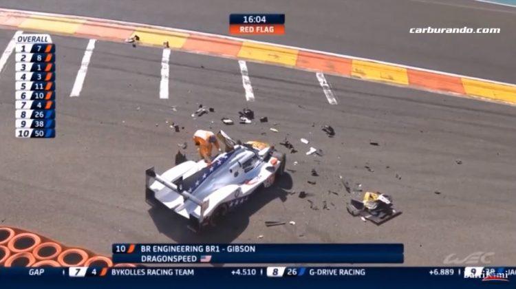 Zware crash Pietro Fittipaldi in Eau Rouge-Raidillon