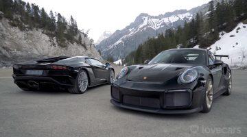 911 GT2 RS & Aventador S naar de Zwitserse Alpen