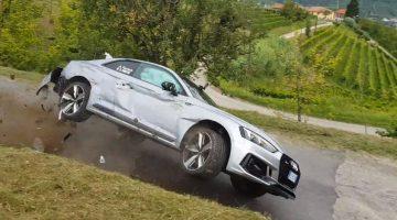 Audi RS5 Crash