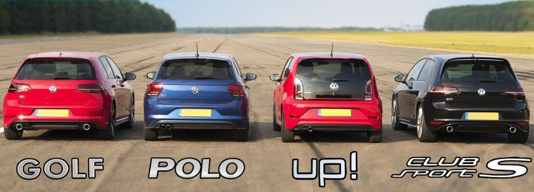 VW Golf GTI vs Polo GTI vs Up GTI vs Golf Clubsport S